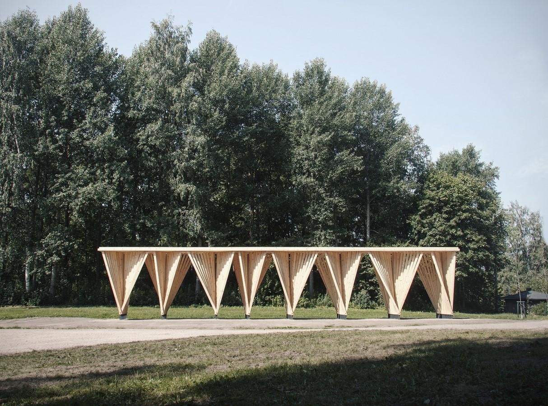 Wooden Pavilion in Lahti - Sheet1