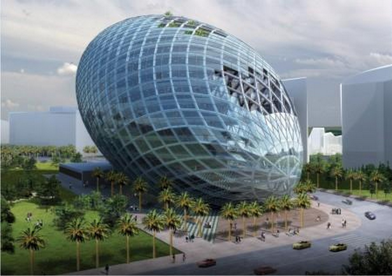 The Cybertecture Egg the new hybrid architecture of Mumbai conceptualized by James Law - Sheet1