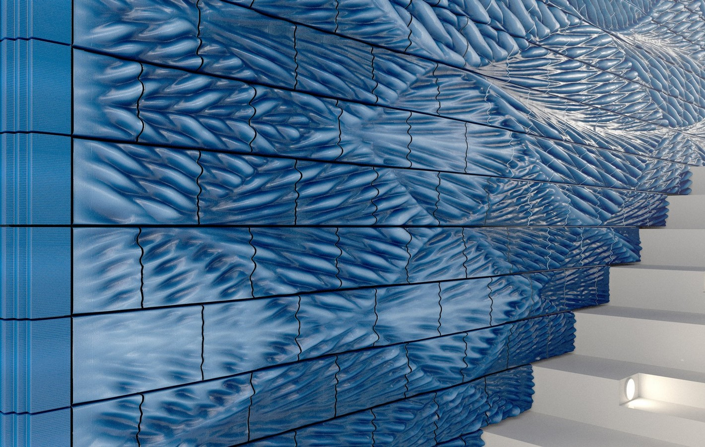 'New delft blue' 3D-printed ceramic tiles by studio RAP - Sheet3