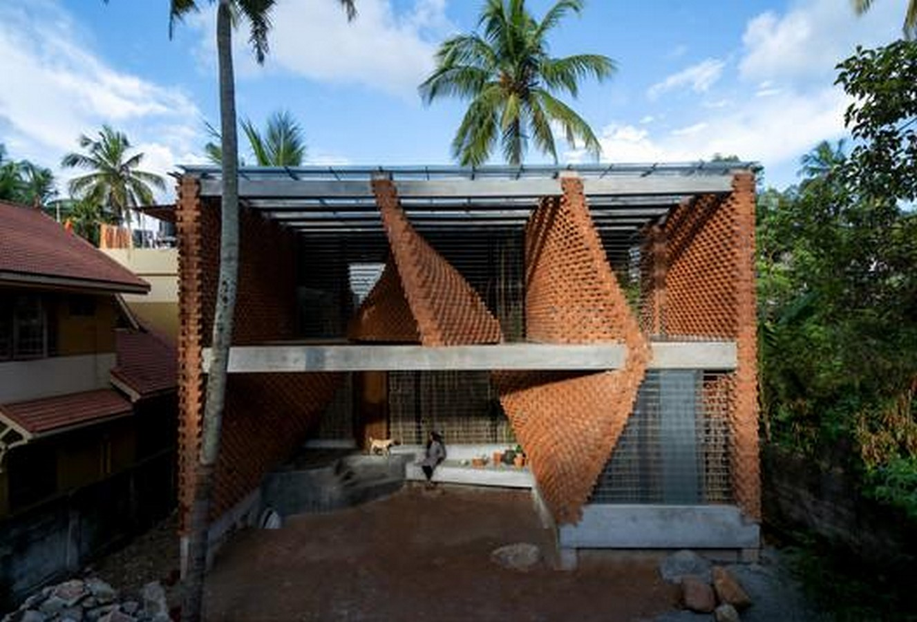Pirouette house in india defines Rat trap bond masonry technique built by wallmakers - Sheet1