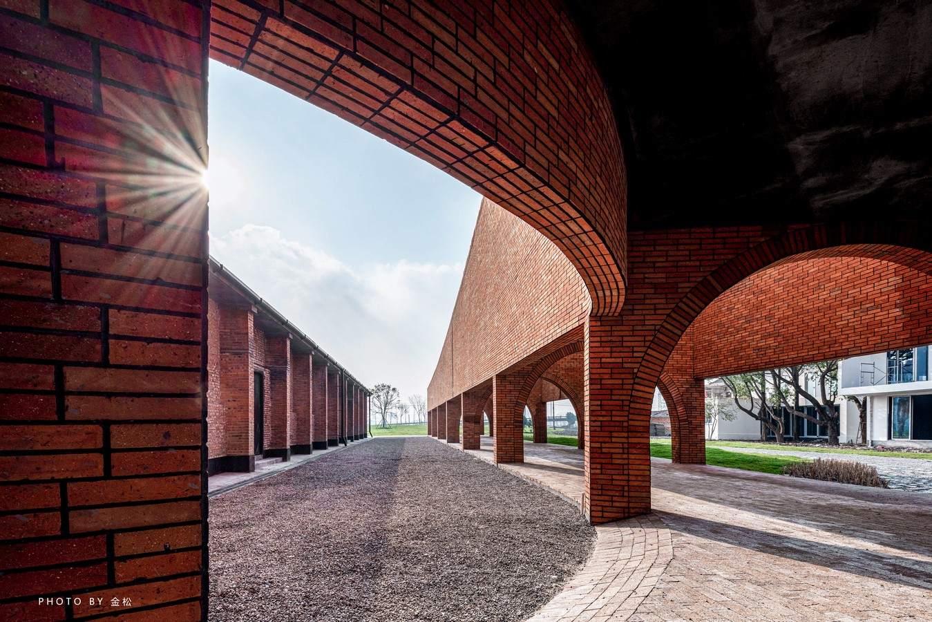 Old Granaries repurposed As An Art Centre With Flowing Brick Corridors In Jiaxing by Roarc Renew - Sheet1