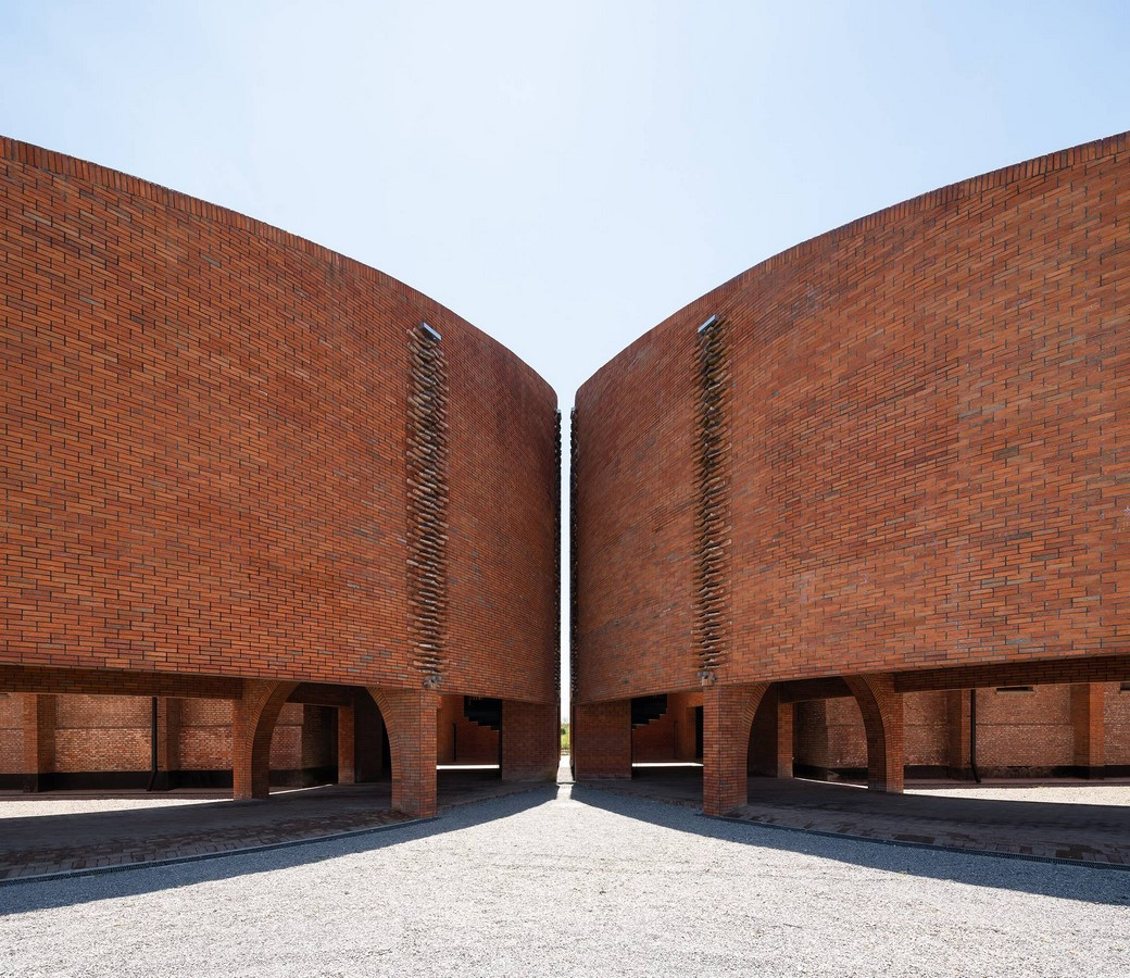 Old Granaries repurposed As An Art Centre With Flowing Brick Corridors In Jiaxing by Roarc Renew - Sheet3