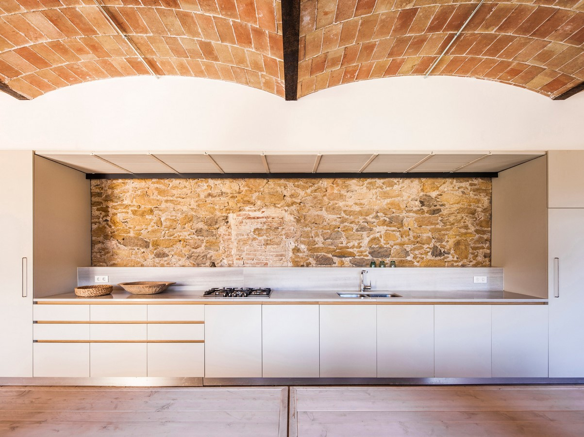Former Chocolate Factory converted into Residence With Stone Walls In Spain by Anna & Eugeni Bach - Sheet2