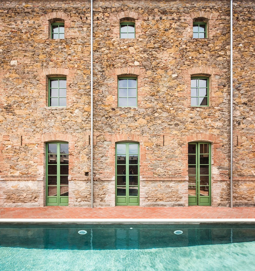 Former Chocolate Factory converted into Residence With Stone Walls In Spain by Anna & Eugeni Bach - Sheet3