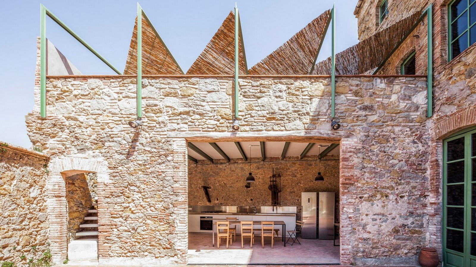 Former Chocolate Factory converted into Residence With Stone Walls In Spain by Anna & Eugeni Bach - Sheet7
