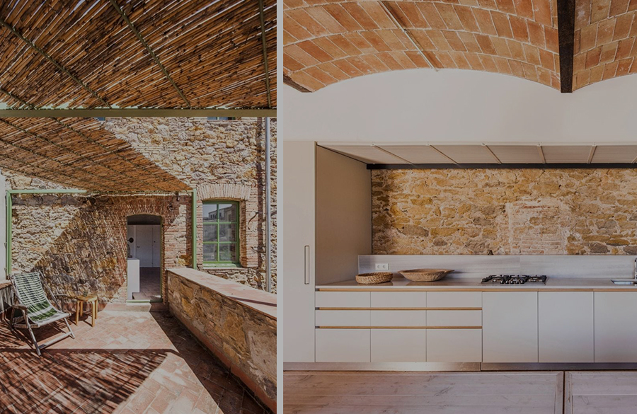 Former Chocolate Factory converted into Residence With Stone Walls In Spain by Anna & Eugeni Bach