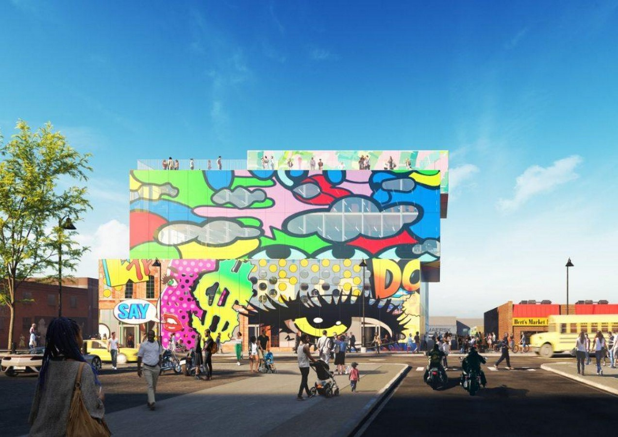 Glass mural' will preserve and promote the street art of Detroit comissioned by MVRDV - Sheet7