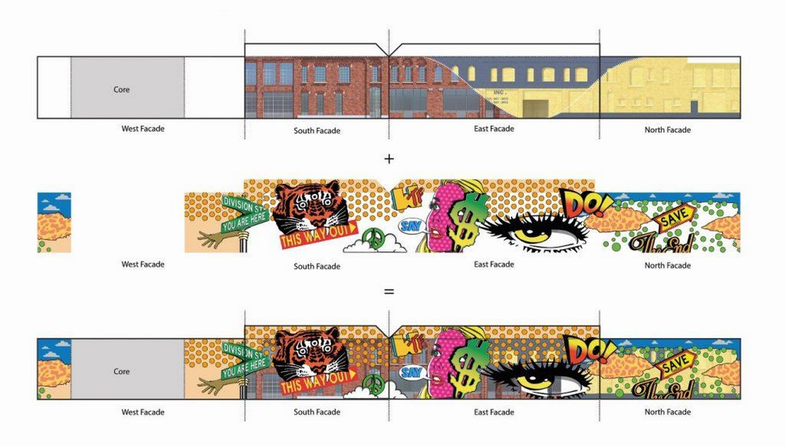 Glass mural' will preserve and promote the street art of Detroit comissioned by MVRDV - Sheet6