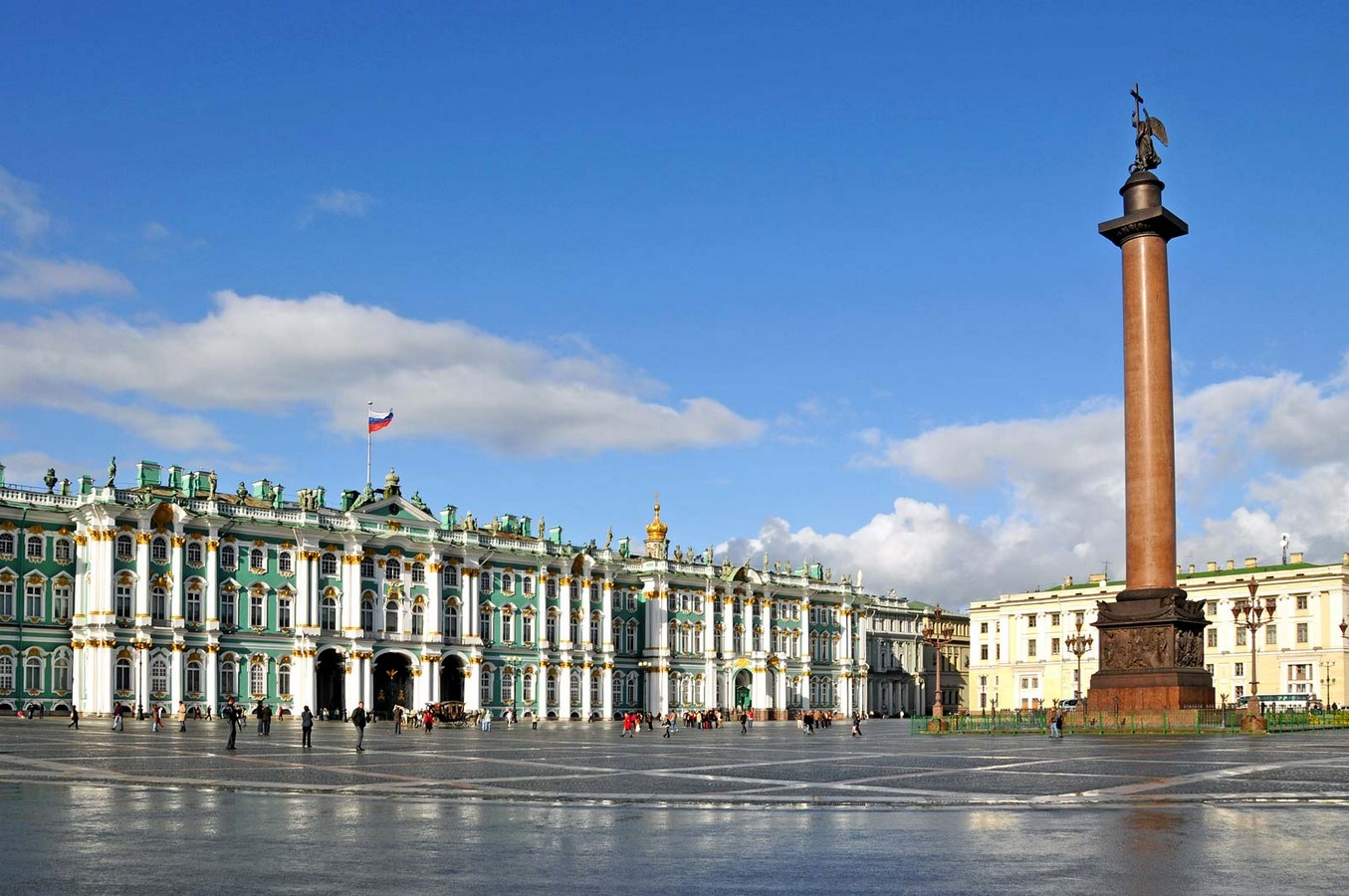 Winter Palace, St. Petersburg, Russia: The baroque style pastel-green Palace- sheet2