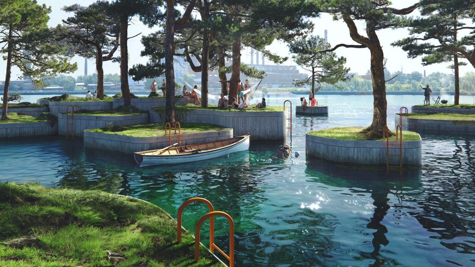 """Parkipelago"", Floating Island by Marshall Blecher and Studio Fokstrot- Sheet1"