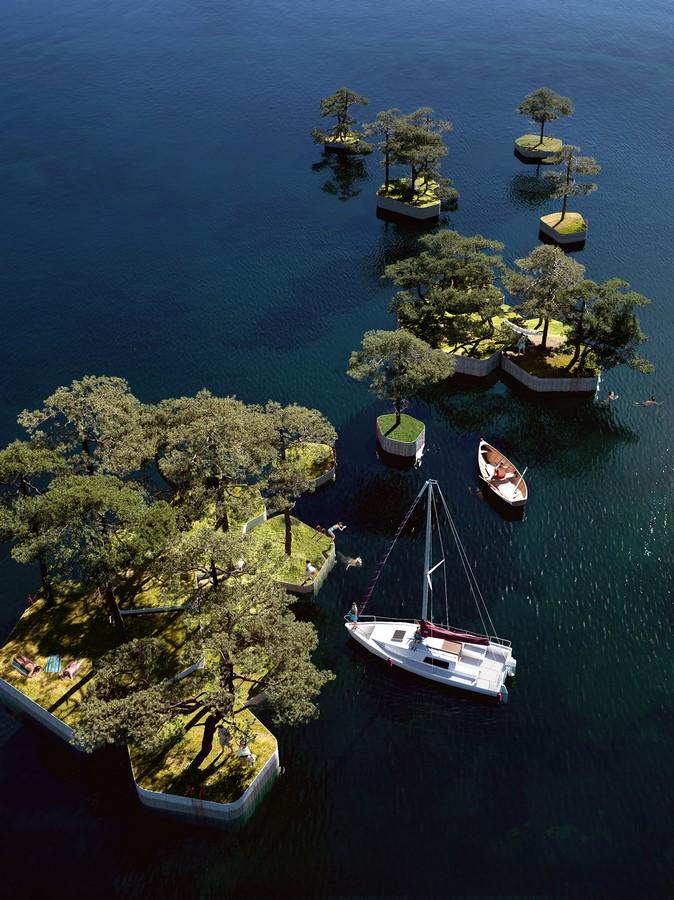 """Parkipelago"", Floating Island by Marshall Blecher and Studio Fokstrot- Sheet2"
