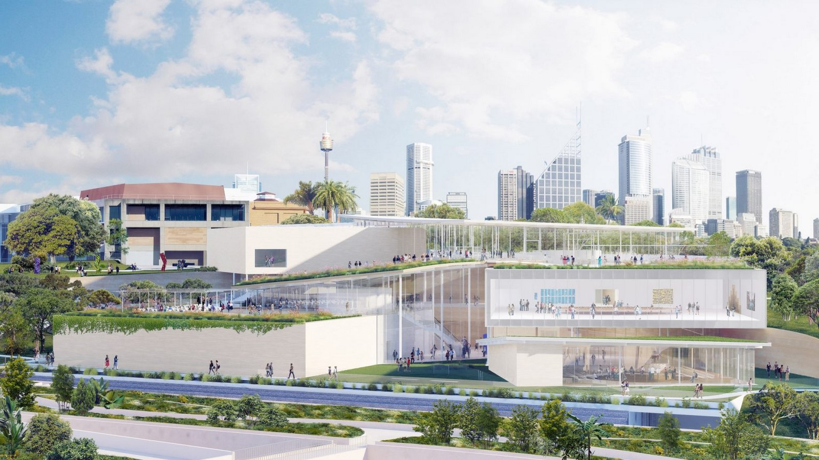 New Images For Art Gallery Of South Wales Expansion In Sydney revealed by SANAA - Sheet1