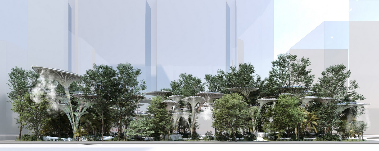 Cooling Stations for Abu Dhabi's Urban Heat Island designed by Mask Architects - Sheet1
