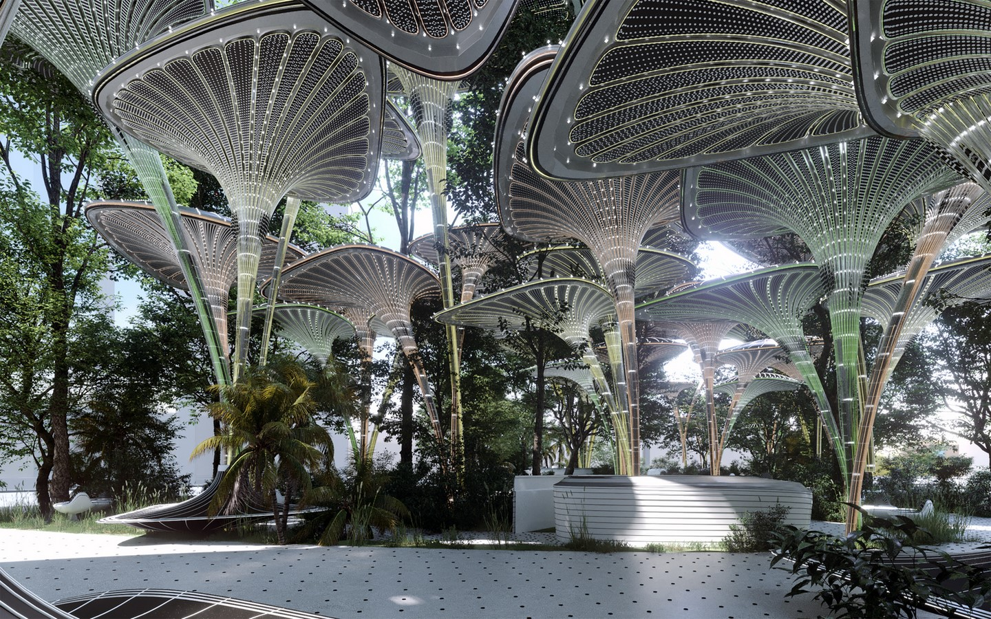 Cooling Stations for Abu Dhabi's Urban Heat Island designed by Mask Architects - Sheet2