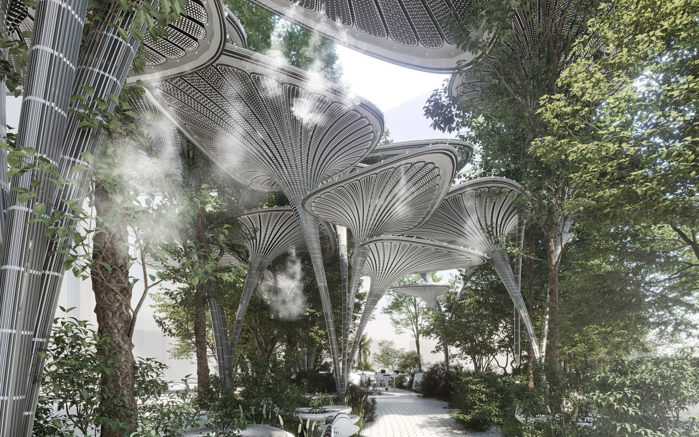 Cooling Stations for Abu Dhabi's Urban Heat Island designed by Mask Architects - Sheet3