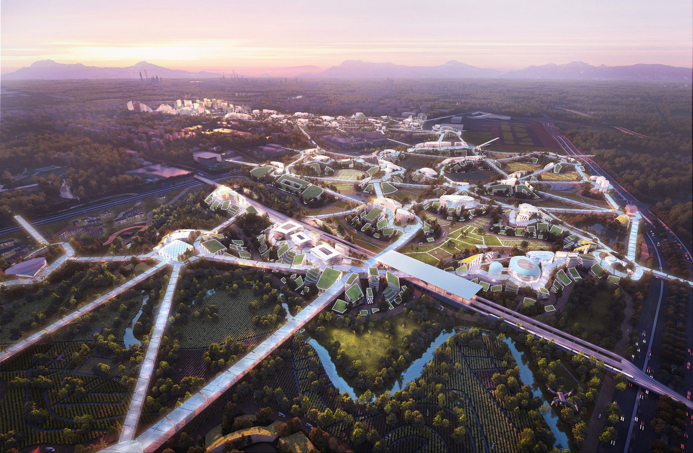 """""""Sky Valley"""", Chengdu Future Science and Technology City, in Southwest China unveiled by MVRDV - Sheet1"""