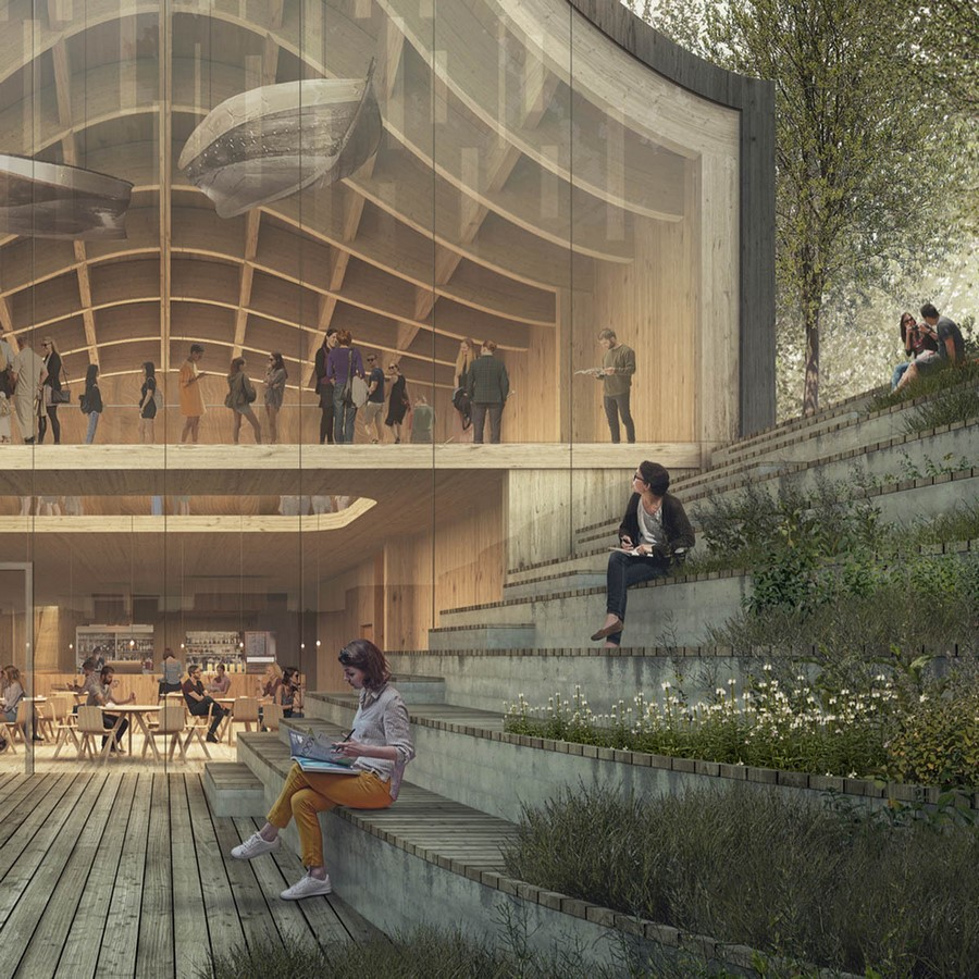 """New Extension Of Norway's Polar Exploration Museum """"FRAM"""" to be designed by Reiulf Ramstad Arkitekter - Sheet4"""