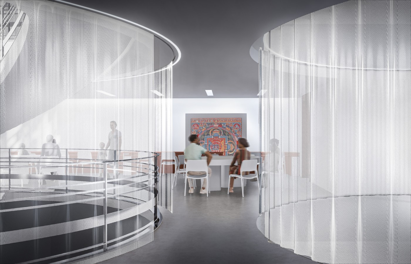 The Rubin Museum's Third Floor Galleries With The Mandala Lab transformed by Peterson Rich Office - Sheet3