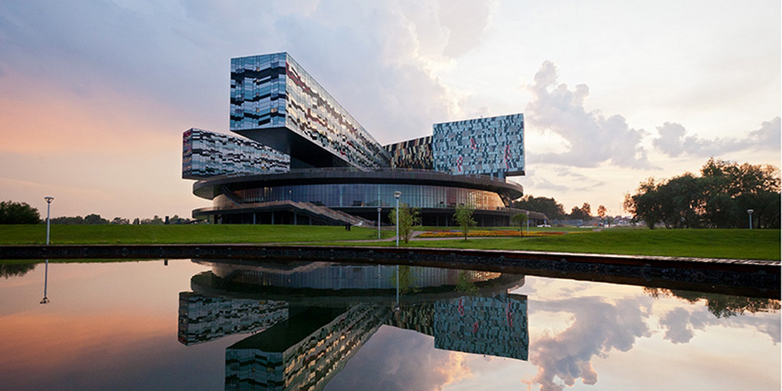 Moscow School of Management, Skolkovo, Russia by David Adjaye- Design inspired by Geometric Abstract Artwork - Sheet2