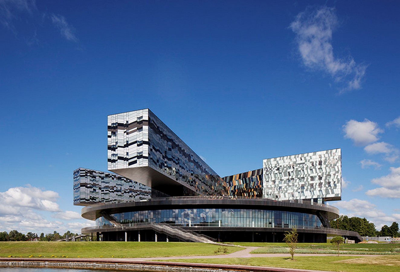 Moscow School of Management, Skolkovo, Russia by David Adjaye- Design inspired by Geometric Abstract Artwork - Sheet4