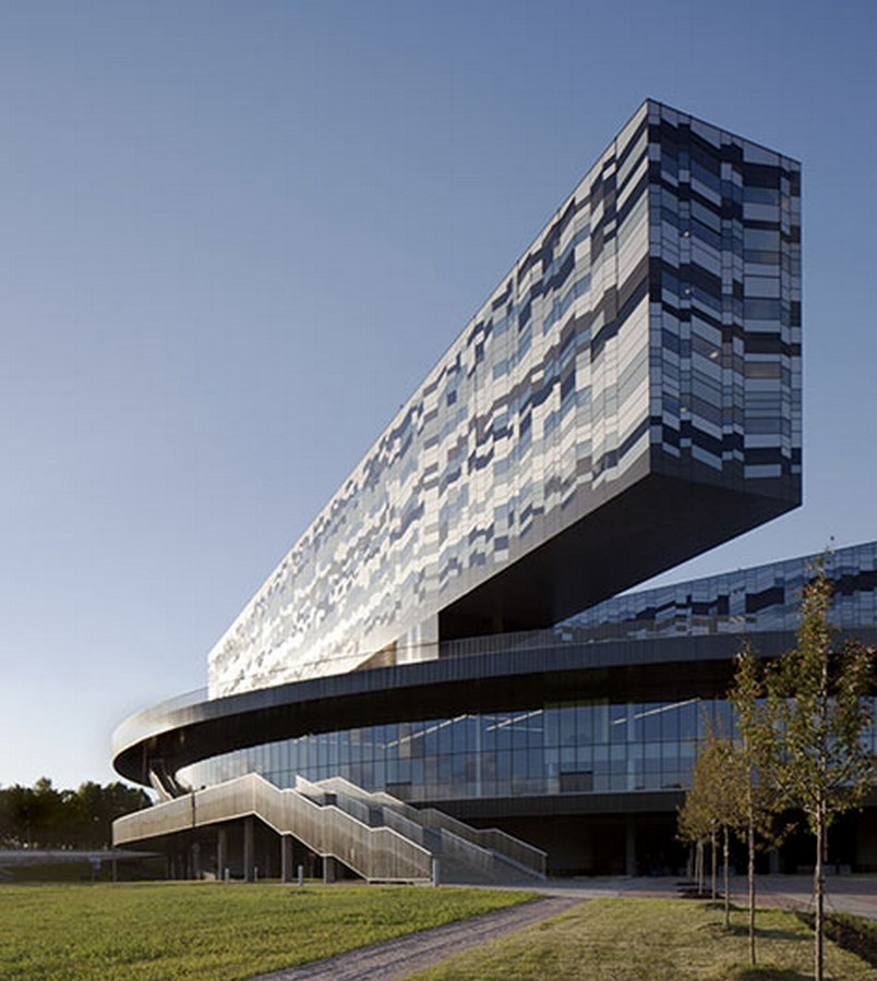 Moscow School of Management, Skolkovo, Russia by David Adjaye- Design inspired by Geometric Abstract Artwork - Sheet6