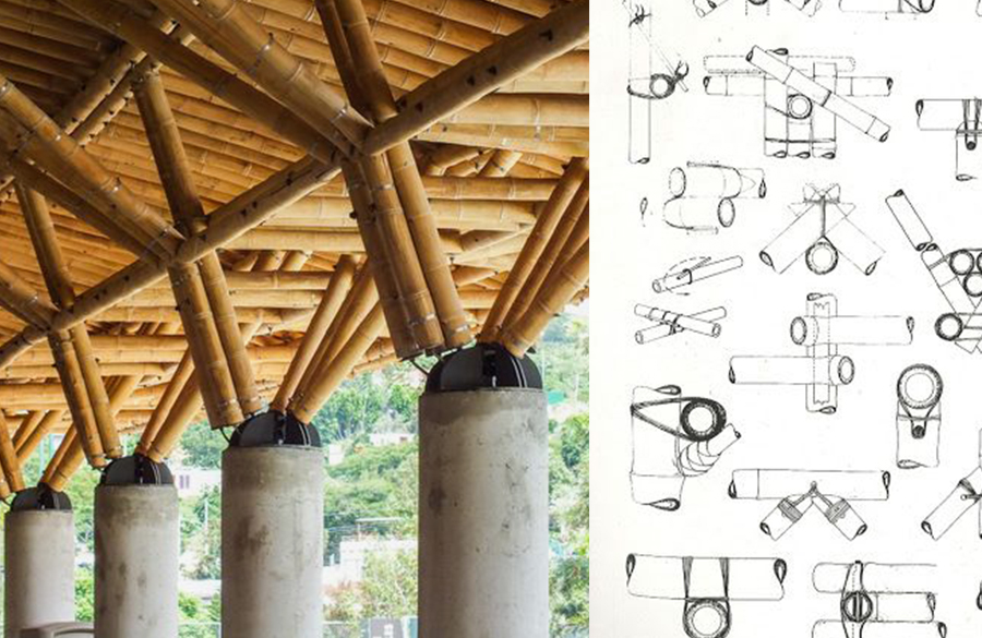 Construction techniques used in Bamboo Architecture