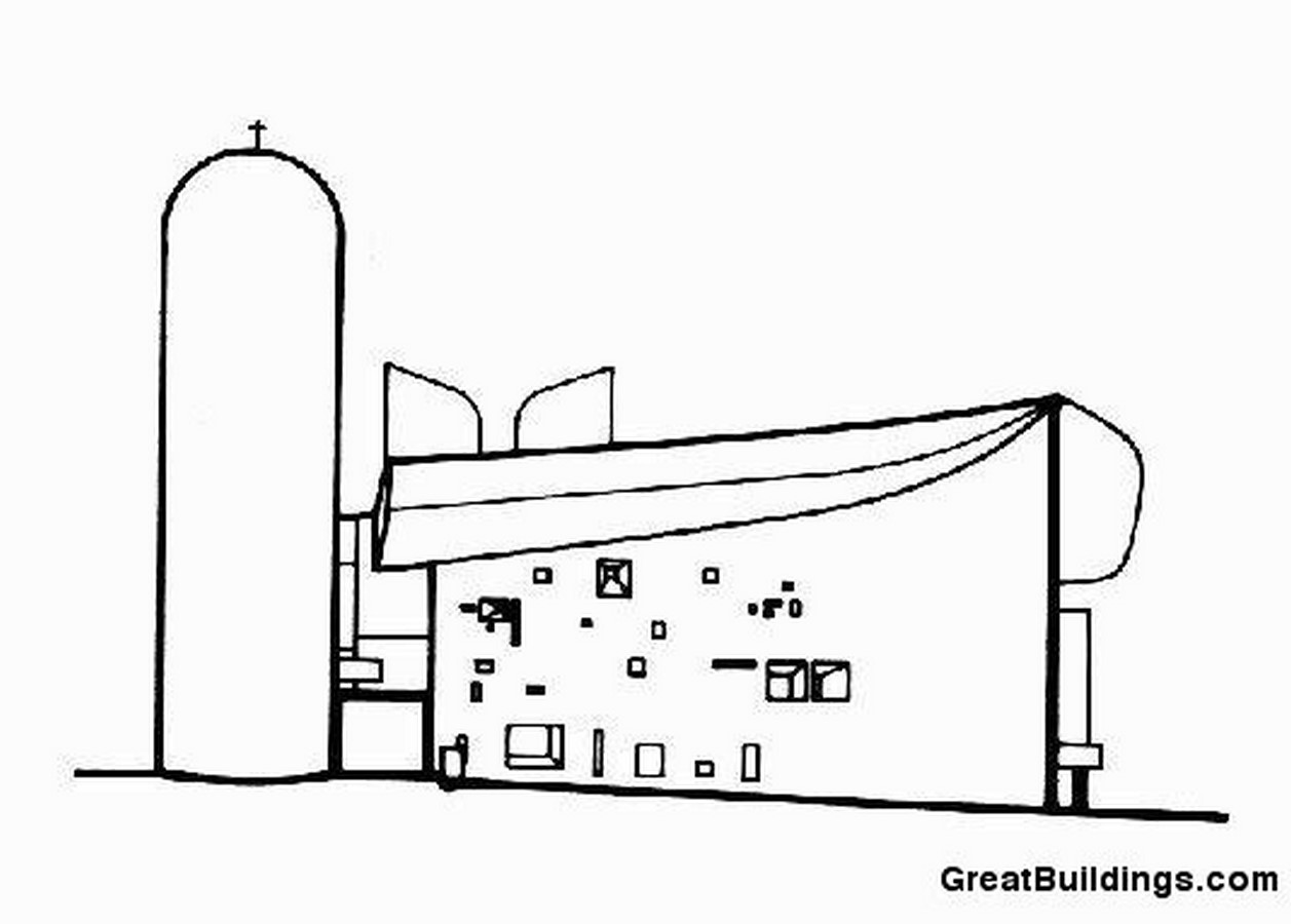 Notre Dame du Haut, France by Le Corbusier: The first Post-Modern building - Sheet4