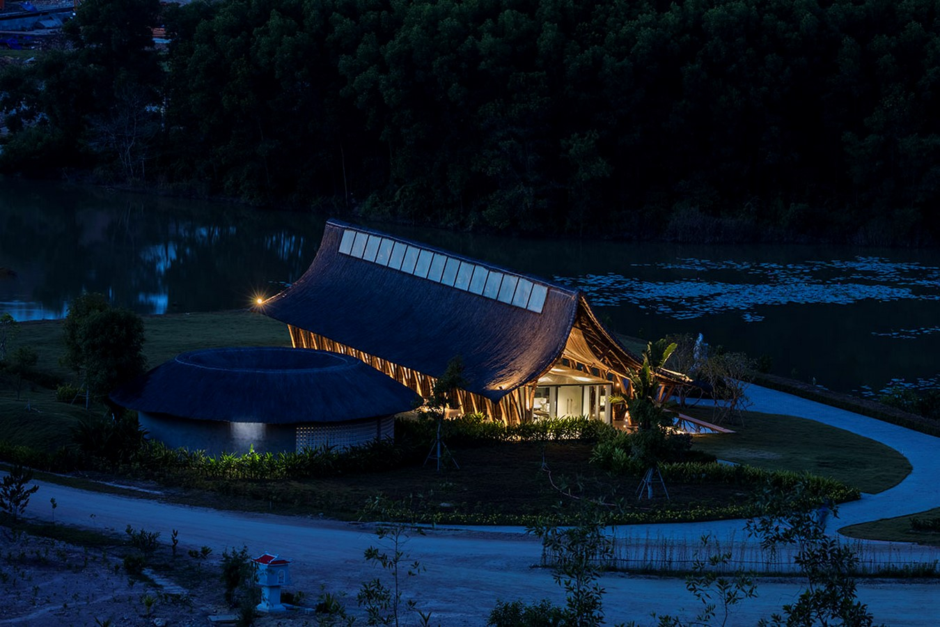 Highly-Curved Bamboo Roof For Visiting Center For Huong An Vien Cemetery created by VTN Architects - Sheet1