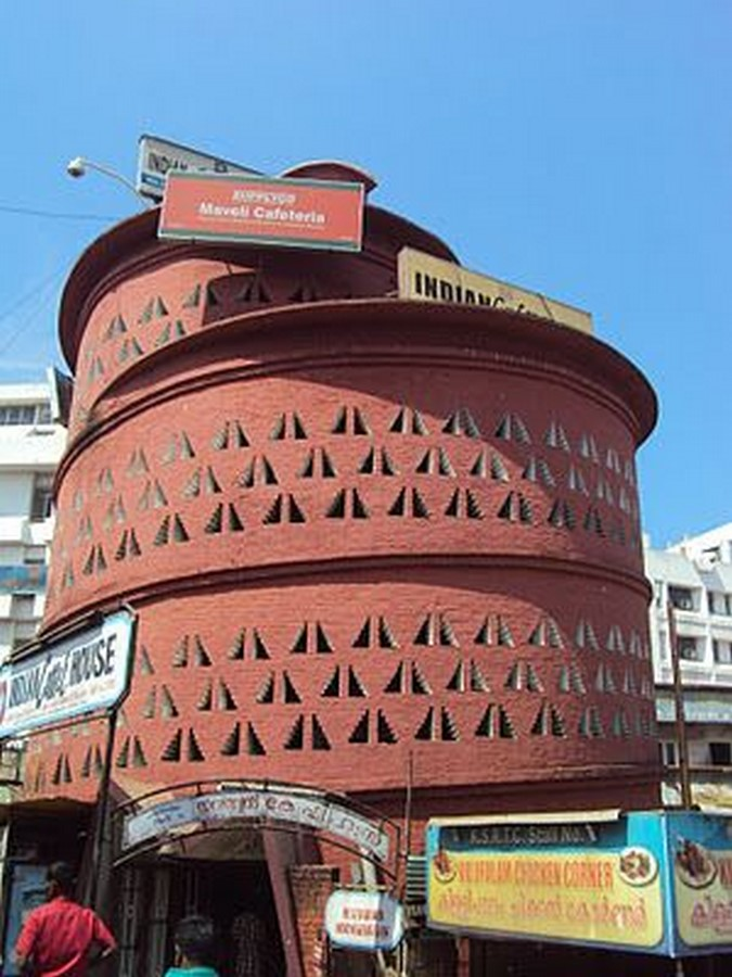 Indian Coffee House by Laurie Baker: Neo-Vernacular architecture of India - Sheet1