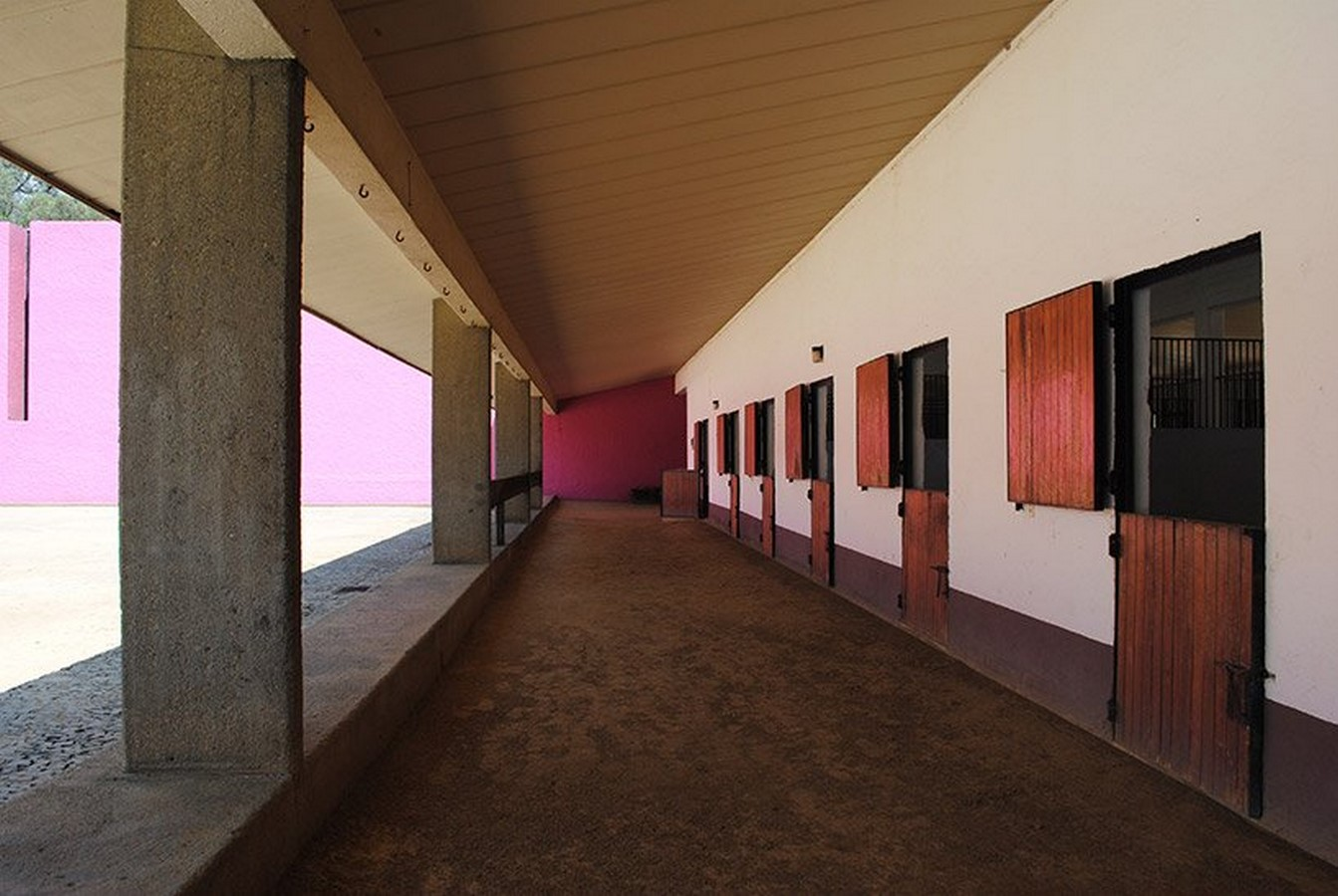 """""""Equestrian Trilogy"""" - Cuadra San Cristóbal, Mexico by Luis Barragán: Geometry, Nature and Architecture - Sheet16"""