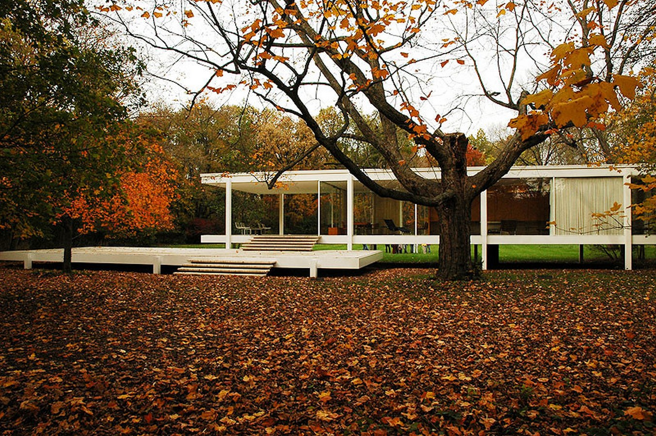 Farnsworth House by Mies van der Rohe: A bond between the House and Nature - Sheet1
