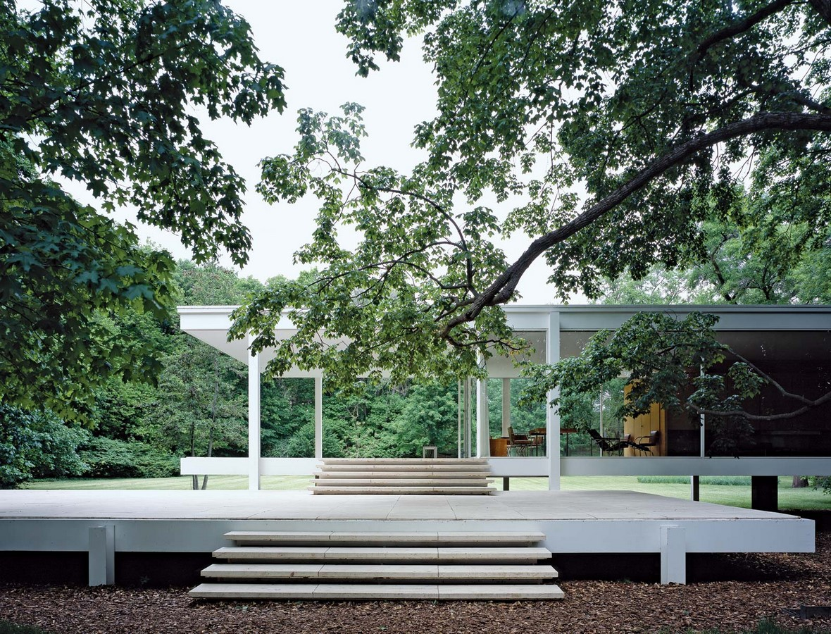 Farnsworth House by Mies van der Rohe: A bond between the House and Nature - Sheet6