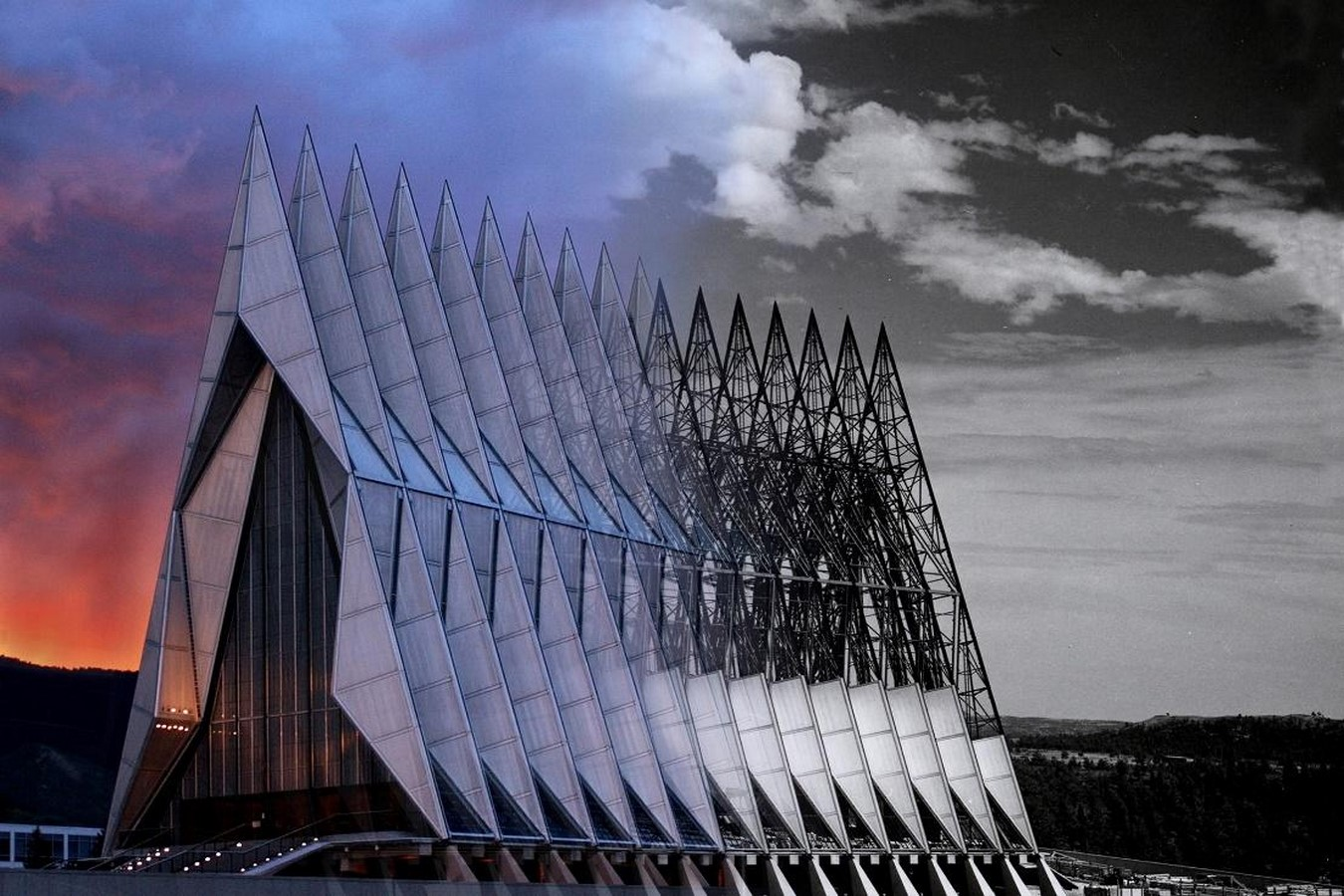 United States Air Force Academy Cadet Chapel by SOM: A Surreal Experience - Sheet1