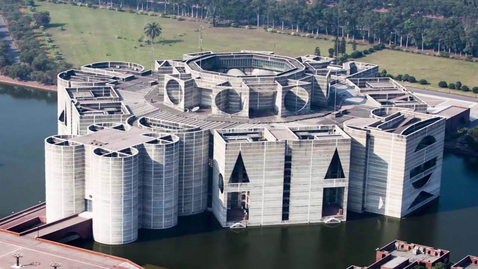National Parliament House, Dhaka, Bangladesh by Louis Kahn: One of the Largest Legislative Complexes - Sheet1