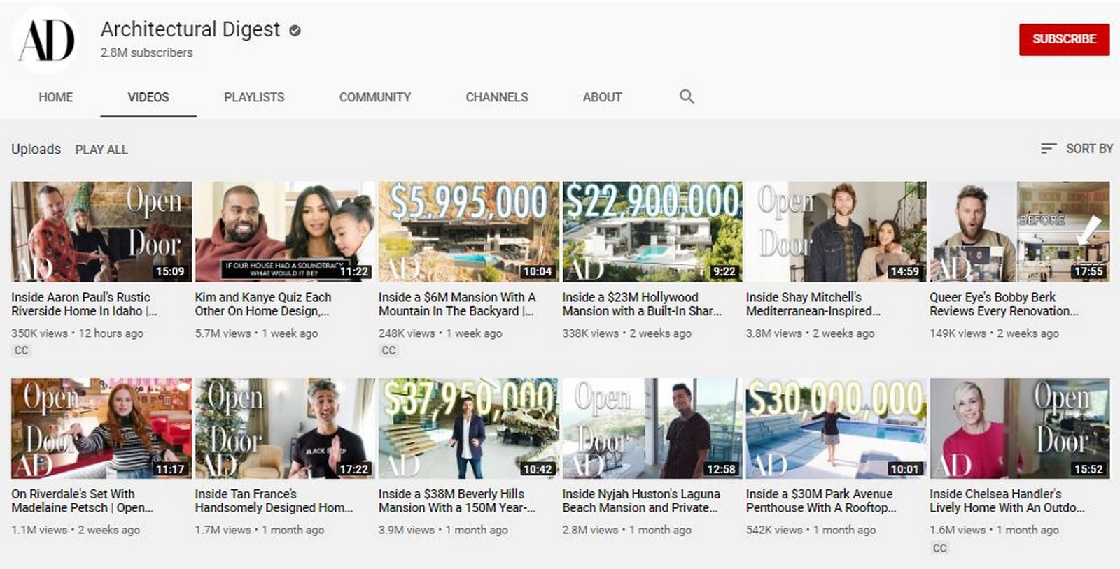 Youtube for Architects: Architectural Digest