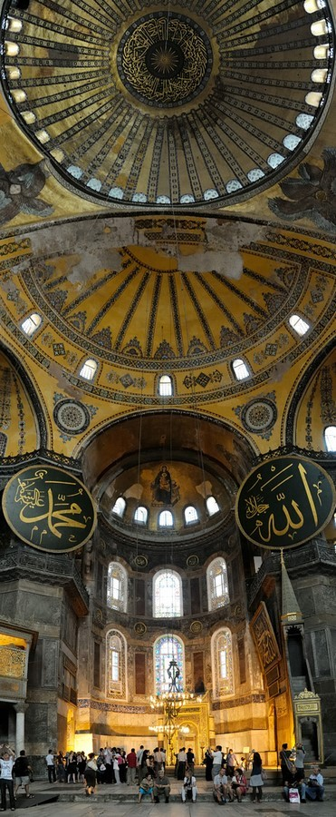 Hagia Sophia is an original design that covers a basilica plan with a dome - Sheet3