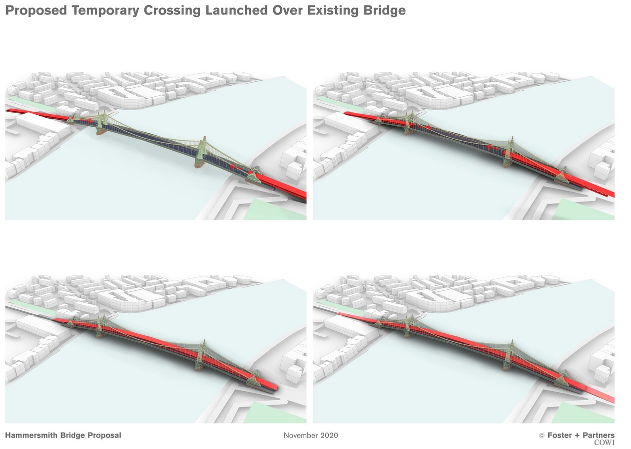 Idea for double-decker Hammersmith Bridge presented by Foster + Partners- Sheet3