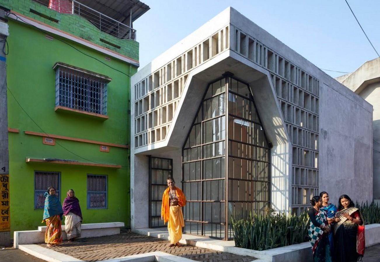 Latticed concrete and glass temple in India designed by Abin Design Studio - Sheet1