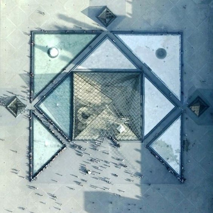 Louvre Pyramid by I.M, Pei: The Glass Pyramid- Sheet20