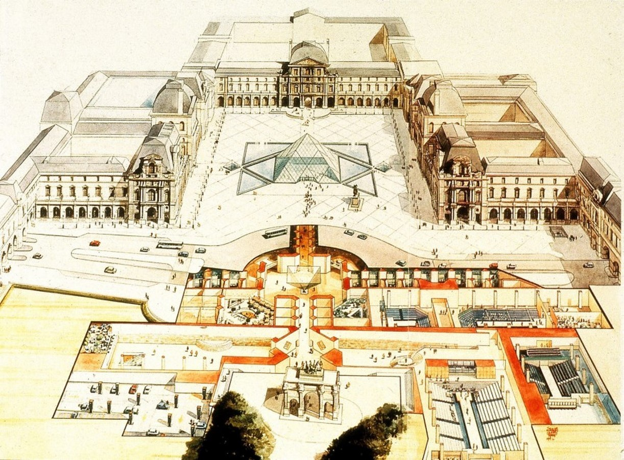 Louvre Pyramid by I.M, Pei: The Glass Pyramid- Sheet4