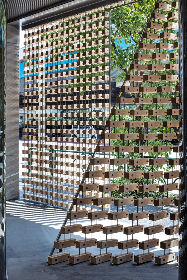 Tsukagoshi Miyashita Sekkei Designs Lumber Curtain Creating Dotted Façade In Japan- Sheet5