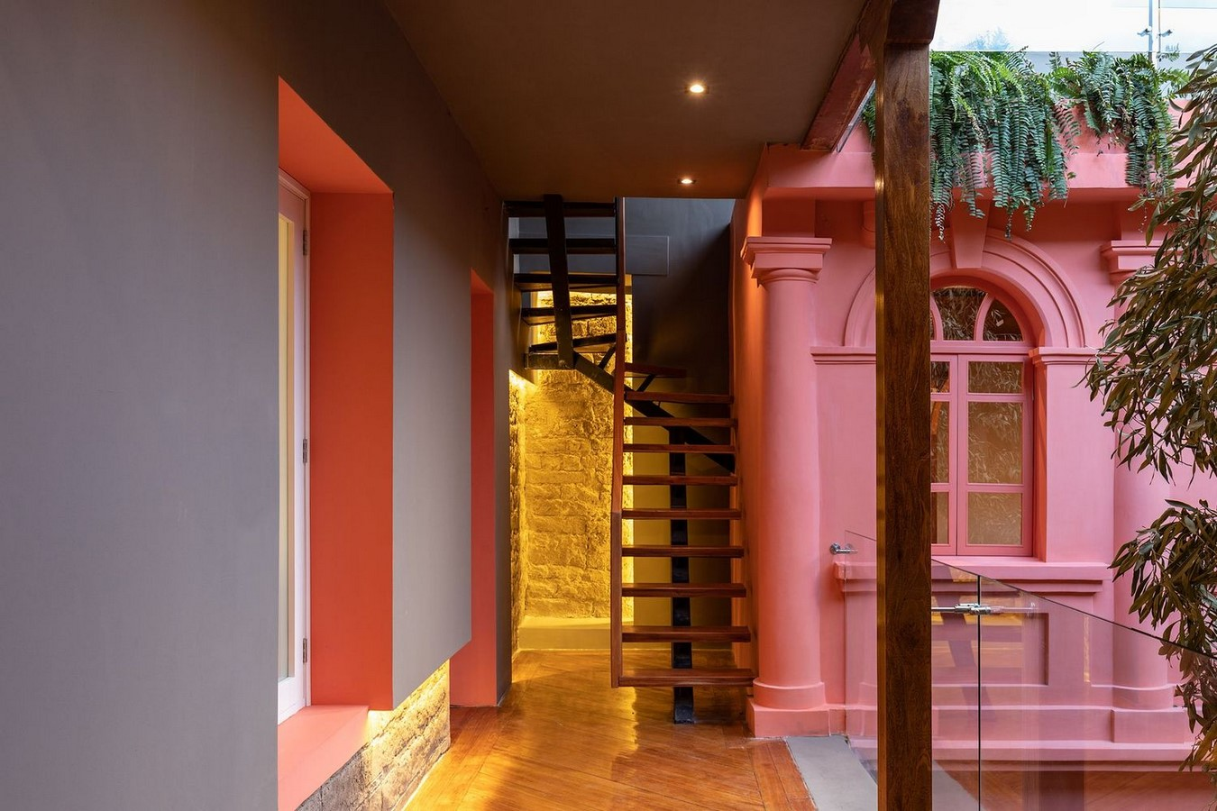 Old Building converted into a Hotel With Pinkish Walls And Central Courtyard In Quito by Nicolas & Nicolas - Sheet2