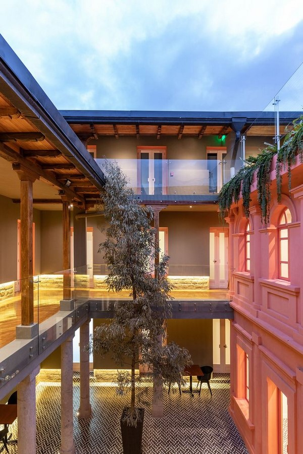 Old Building converted into a Hotel With Pinkish Walls And Central Courtyard In Quito by Nicolas & Nicolas - Sheet4