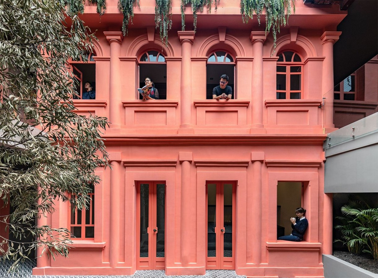 Old Building converted into a Hotel With Pinkish Walls And Central Courtyard In Quito by Nicolas & Nicolas - Sheet6