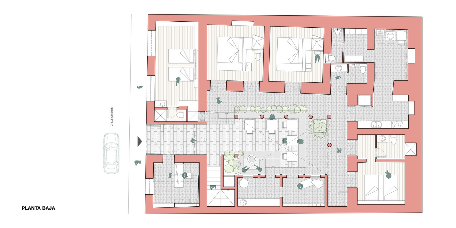 Old Building converted into a Hotel With Pinkish Walls And Central Courtyard In Quito by Nicolas & Nicolas - Sheet7