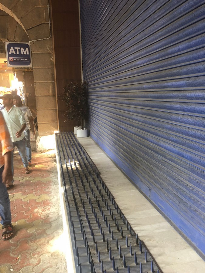 Anti-loitering spikes in Mumbai, India- Sheet1