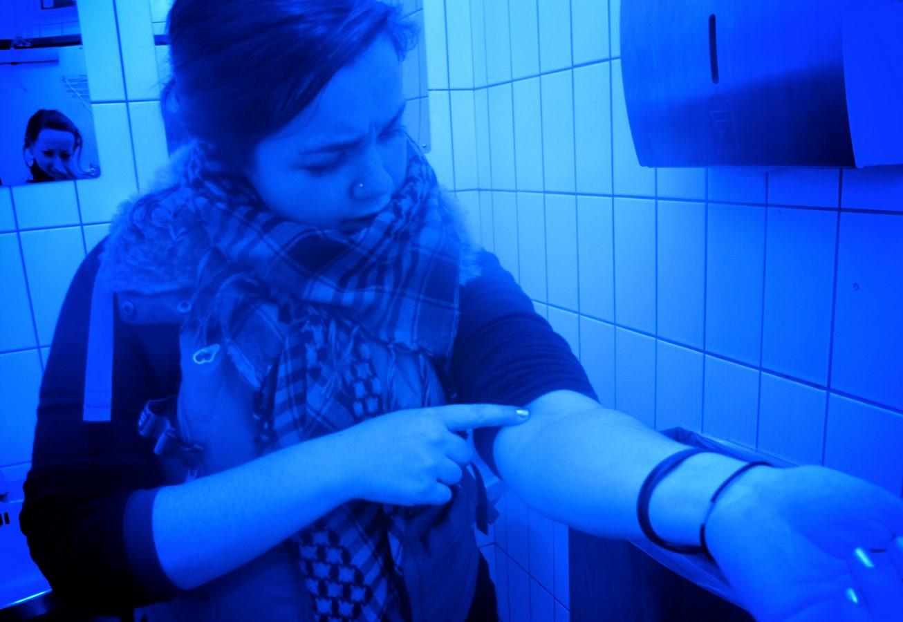 Blue-lit public washrooms in British Columbia, Canada- Sheet2