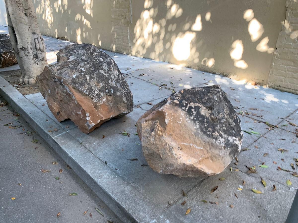 Sidewalk boulders in San Francisco, USA- Sheet2