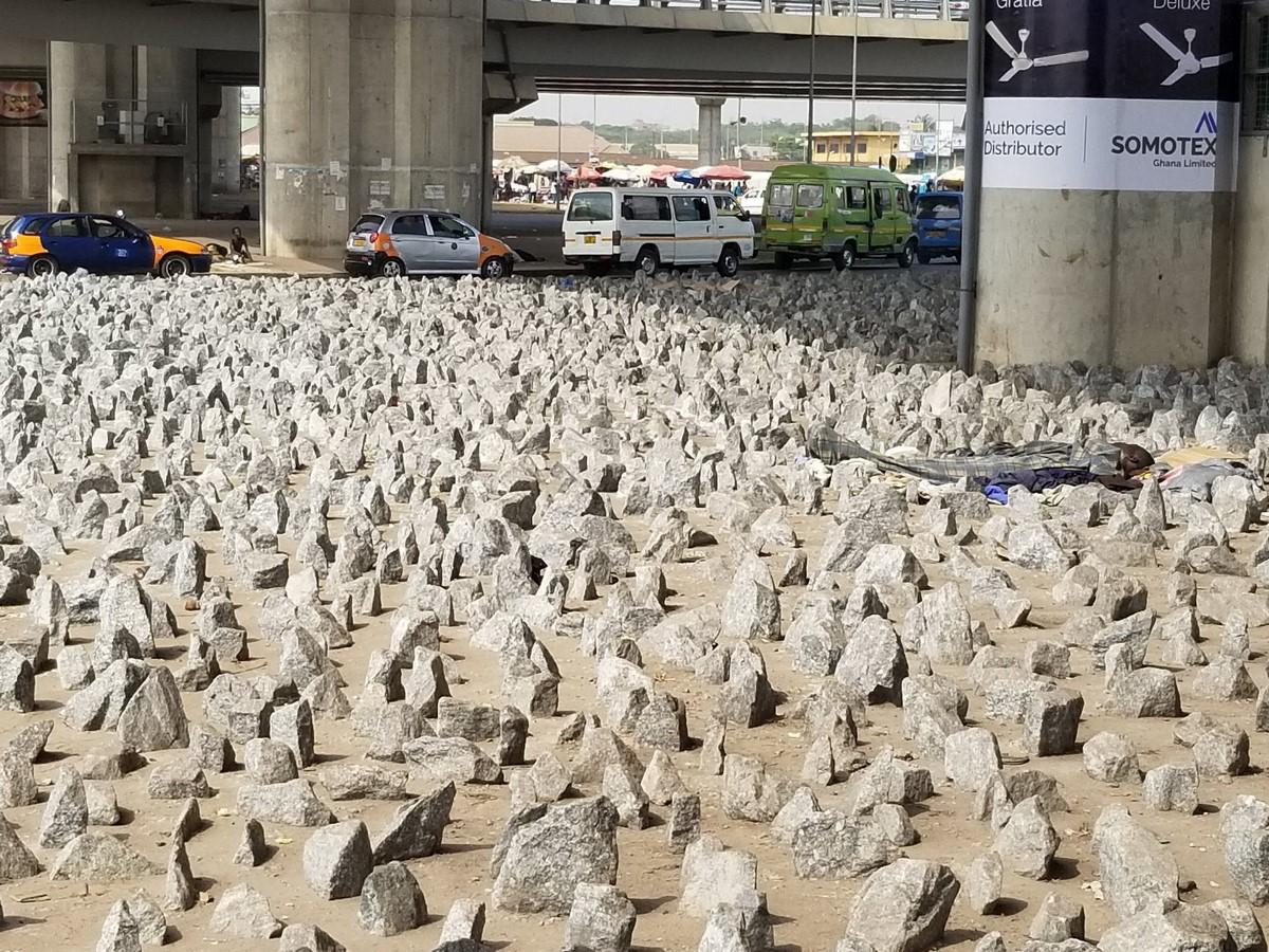 Jagged rocks in Accra, Ghana- Sheet1