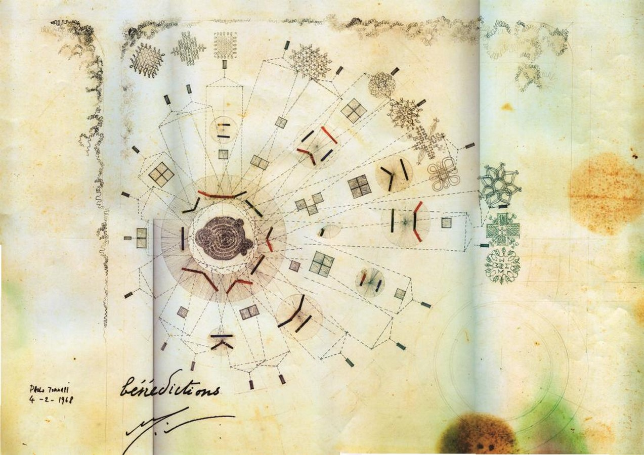 Paolo Tommasi's contribution in shaping Auroville- Sheet13